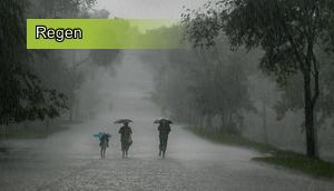 Regen und Wasser